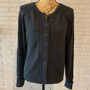 American Eagle Outfitters gray cardigan sweater
